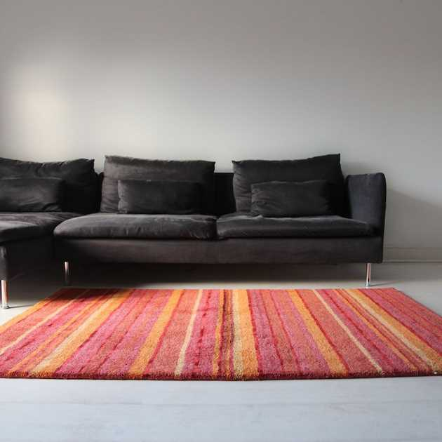 Supreme Handloom Multistripe Rugs in Sienna